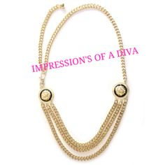BOLD LINK LION LAYERED CHAIN NECKLACE