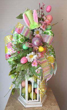 """FUNNY BUNNY"" (Green) - Decorative Easter/Spring Lantern Swag   eBay"