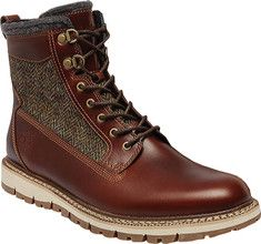 "Men's Timberland 6"" Britton Hill Warm Lined Leather & Fabric Boot - Brown Full Grain/Harris Tweed® Wool Fabric with FREE Shipping & Exchanges. Get the best of comfort and style wearing the Timberland 6  Britton Hill"