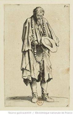 [Les gueux]. [11], [Le mendiant au rosaire] : [estampe] / [Jacques Callot] - 1