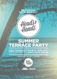 Heads & Hands Summer Terrace Party by Sean Frigot, via Behance