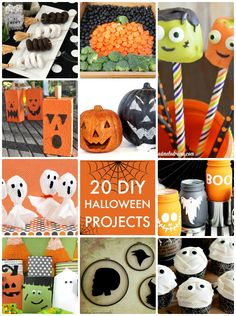 It's time to start putting together all the spooky decor late October is known for! Here are 20 DIY Halloween Projects from this week's Link Party Palooza!