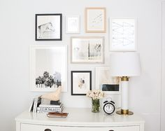 How to Curate Art for a Collage Gallery Wall + Minted Giveaway #theeverygirl