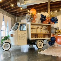 """We love our little Piaggio """"Ape"""" Vespacar, Fizzy! She has been fully restored and transformed into a pint sized beverage cart. If you need a Prosecco Van, Booze Wagon, Bubbly Bar or Tap Truck, the Fizzy Team has you covered! Mobile Coffee Cart, Mobile Coffee Shop, Coffee Carts, Coffee Truck, Mobile Cocktail Bar, Prosecco Van, Food Truck Wedding, Coffee Van, Piaggio Ape"""