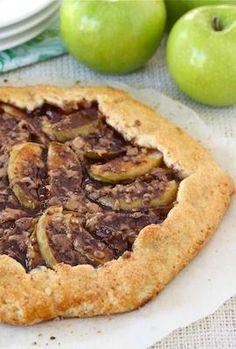 Apple Toffee Galette Recipe on twopeasandtheirpod.com