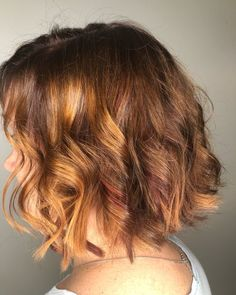 Deep Red Lowlights for Cinnamon Brown Hair