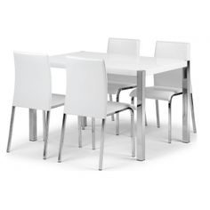 Charisma Dining Set for Four in White HG