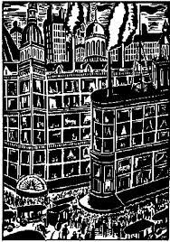 Franz Masereel: from The City White Ink, Black And White, Wordless Book, City Painting, Scratchboard, Black Paper, Paul Klee, Graphic Illustration, Illustrations