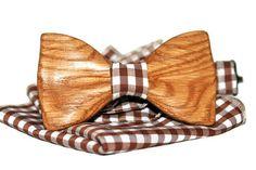 Noeud papillon avec arc en bois cravate Etsy