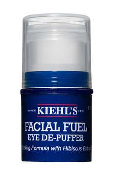 It's a men's product but why should they only de-puff their eyes? It feels so good when you slide it under your eyes!     Kiehl's Facial Fuel Eye De-Puffer | Nordstrom
