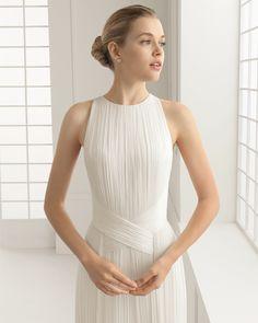 DUENDE traje de novia en muselina de seda.