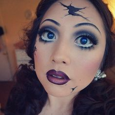 Break the Costume Mold With These Creepy Cracked-Doll Looks: You can always go the sexy route for your Halloween costume, but why not really go for bold in the makeup department and get spooky?