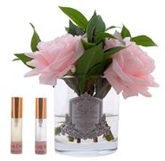 Buy Côte Noire English Roses in Clear Glass – Pink