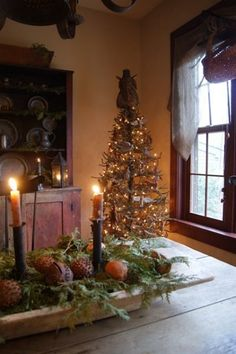 I love the old treenware bowls . . . especially at the holidays!