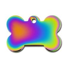 QuickTag Large Rainbow Bone Personalized Engraved Pet ID Tag * See this great product.