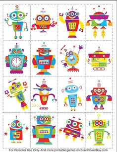 Yoga For Preschool Age Robots For Kids, Kids Toys, Art For Kids, Robot Clipart, Printable Games For Kids, Robot Theme, Craft Images, Coding For Kids, Preschool Age