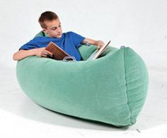 """Inflatable sensory """"pea pod"""". Sensory tool for kids with autism or sensory processing issues who crave deep pressure to help calm, regulate, focus, or serve as a """"safe space"""" to retreat when overstimulated.   These can be found on amazon too."""