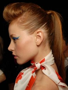Faux Hawk Ponytail and more cool ponytail ideas on MyNaturalFamily.com #hair #ponytail