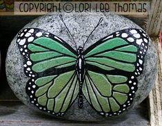 Rocks, rocks, and more rocks! Pebble Painting, Pebble Art, Stone Painting, Stone Crafts, Rock Crafts, Hand Painted Rocks, Painted Stones, Rock Decor, Butterfly Painting