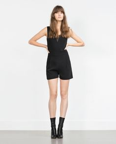 SHORT COMBINED PLUMETIS JUMPSUIT-Going Out-WOMAN   ZARA United States