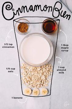 15. Cinnamon Bun #greatist https://greatist.com/eat/simple-smoothie-recipes