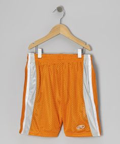 Take a look at this Orange Stripe Mesh Shorts by Rawlings on #zulily today!