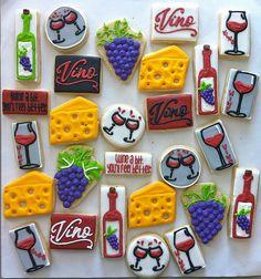 v353 by hayleycakesandcookies, via Flickr Sugar Cookie Icing, Royal Icing Cookies, Cupcake Cookies, Cupcakes, Wine Cookies, Fancy Cookies, Summer Cookies, Easter Cookies, Springerle Cookies