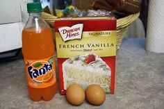 Orange Dreamsicle Cake – Cooking with Pizazz French Vanilla Cake, Vanilla Cake Mixes, Vanilla Pudding Mix, Vanilla Flavoring, Cakes Made With Soda, Cake Mix And Soda, Orange Creamsicle Cake Recipe, Orange Soda Cake Recipe, Orange Crush Cake