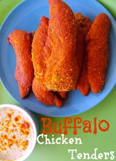 Buffalo Chicken Tenders PLUS 21 scrumptious game day recipes and touchdown worthy crafts & DIY party decor tutorials.