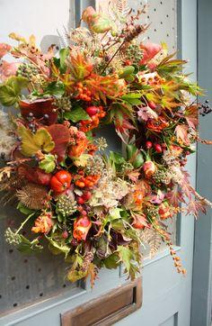 Autumnal door wreath.