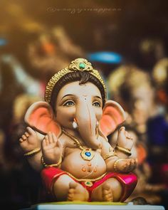 Shri Ganesh Images, Ganesh Chaturthi Images, Sri Ganesh, Ganesha Pictures, Happy Ganesh Chaturthi, Krishna Images, Ganesh Idol, Ganesha Art, Ganpati Bappa Photo