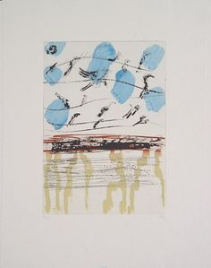 Per Kirkeby  Untitled, 2003   color etching with sugar-lift aquatint, drypoint and line-etching on Japan paper