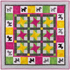 Create something FUN! Get this @AccuQuilt  GO! Spot GO! pattern FREE and  GO! Get started!  This is such a fun and playful kids quilt to make for Summer!