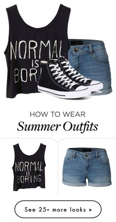 """""""outfit"""" by lovedaddy101 on Polyvore featuring LE3NO, Converse and SparklzzOutfitzz"""