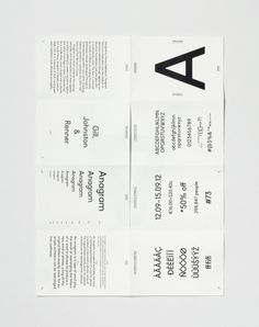 brochure, layout, typography, black and white, unfolded poster Corporate Brochure Design, Brochure Layout, Brochure Template, Text Layout, Alphabet Design, Typography Poster, Graphic Design Typography, Yearbook Layouts, Yearbook Spreads