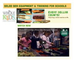 Apply now for a salad bar equipment grant