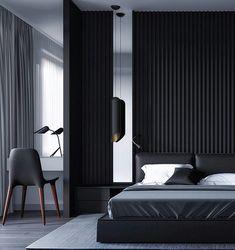 Essential things for Minimal Interior Design Inspiration – Interior Design Examples, Black Interior Design, Luxury Interior, Design Ideas, Bedroom Design Inspiration, Modern Bedroom Design, Bed Design, Hotel Room Design, Hotel Bathroom Design