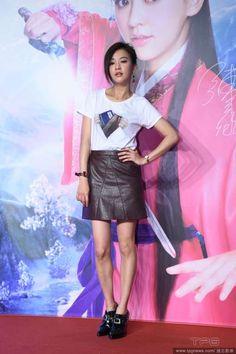 Taiwanese actress Ivy Chen  http://www.chinaentertainmentnews.com/2015/11/ivy-chen-to-challenge-50km-marathon-on_9.html