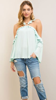 Simply Spring Top - Mint Green from Chocolate Shoe Boutique