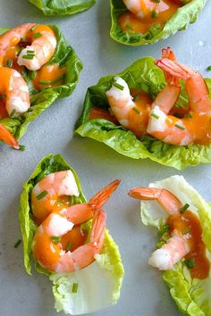 These shrimp cocktail lettuce wraps are a delicious treat for dinner or game-day snacking. eatwell101.com