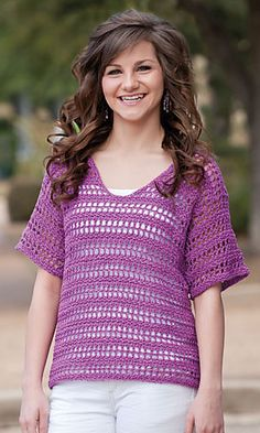 Ravelry: Orchid Lace Top pattern by Brenda Bourg