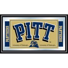 Trademark Global University of Pittsburgh Logo and Mascot Framed Mirror - CLC1525-PITT