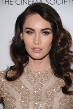Megan Fox has the perfect makeup and hair for a nude or gold dress #TopshopPromQueen