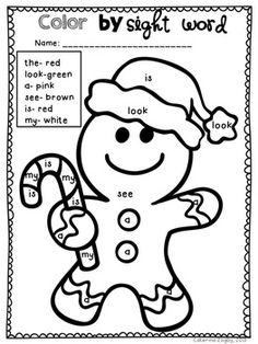 'Twas the Night Before Christmas – Math and Literacy Activities - Coisas Para Saber Sobre Saúde Bucal Christmas Color By Number, Christmas Colors, Christmas Math, Preschool Christmas, Christmas Pictures, Christmas Crafts, Merry Christmas, Sight Word Activities, Literacy Activities
