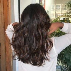 Black Coffee Hair With Ombre Highlights - 10 Cool Ideas of Coffee Brown Hair Color - The Trending Hairstyle Brown Hair Balayage, Brown Blonde Hair, Balayage Brunette, Hair Color For Black Hair, Hair Color Balayage, Brown Hair Colors, Hair Highlights, Ombre Hair, Lowlights For Black Hair