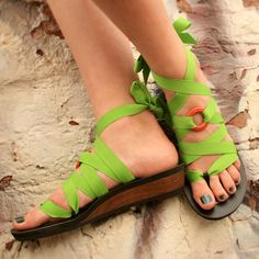 Low Wedge Ribbon Sandal | Custom Fit, Vegan, Handmade | Mohop.com
