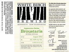 White Birch–Apprentice Series Broustaris Historical Scotch Ale