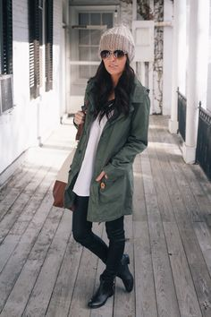 Armygreen Military Style Hooded Parka Coat - Outers - Retro, Indie and Unique Fashion