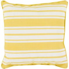 A complete selection of fabulous beach house pillows - featuring coastal designs, nautical themed pillows, tropical pillows, beach cottage cushions and many more seaside home pillows to decorate your shore retreat! Nautical Stripes, Nautical Home, Outdoor Throw Pillows, Decorative Throw Pillows, Decorative Accents, Nautical Throws, Gold Pillows, Mellow Yellow, Bright Yellow