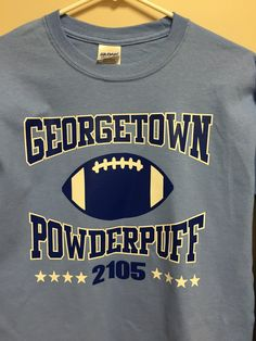 Printed front for Georgetown powderpuff